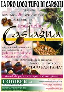 Locandina Festa della Castagna